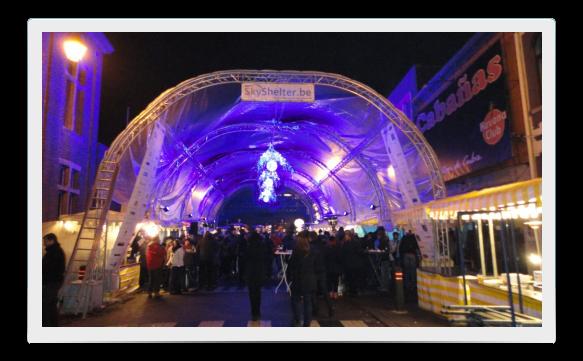 SkyShelter voor jaar- en kerstmarkten